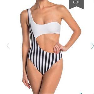 Kendall + Kylie Asymmetrical One Piece swimsuit